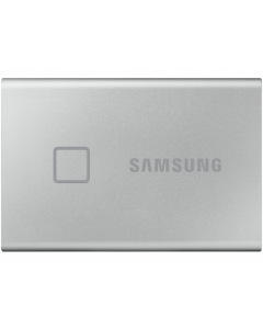 2.0TB (USB3.2/Type-C) Samsung Portable SSD T7 Touch, FP ID, Silver