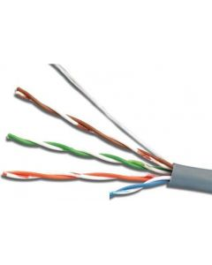 Cable  UTP  Cat.5E, 305m, CCA,24awg 4X2X1/0.47, solid gray