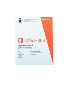 Microsoft 365 Personal English Sub 1YR Central/Eastern Euro Only Mdls P6, MAC/WIN