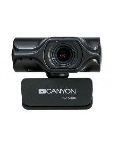 PC Camera Canyon C6, 2K Ultra-HD, Sensor 3.2 MP, FoV 80°, Tripod, Microphone, Black
